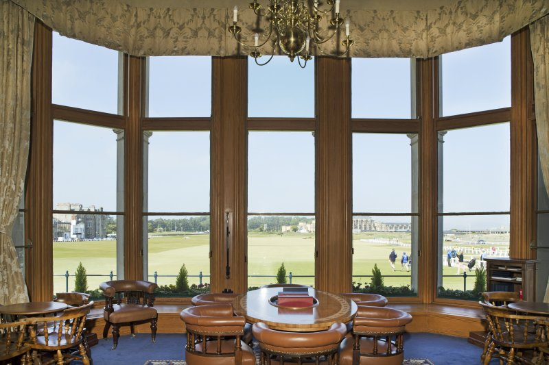 Ground floor. General view of the 'Big Room' large picture windows onto the Old Course..