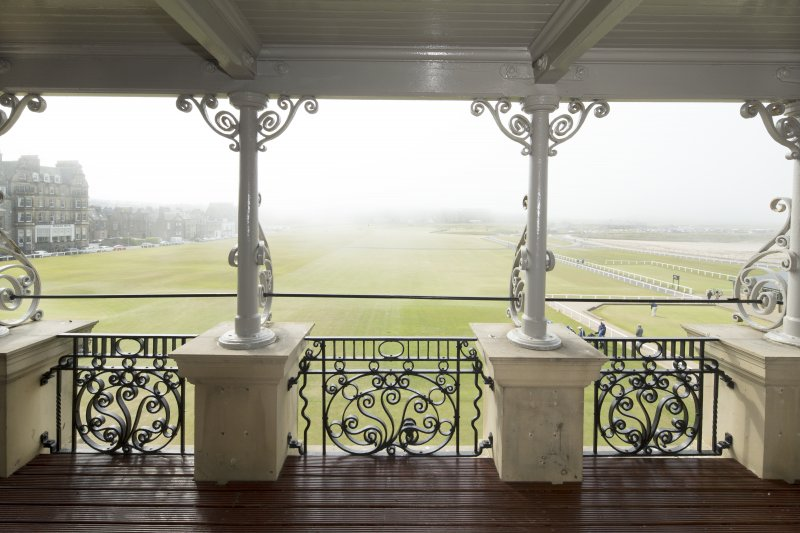 1st floor. Balcony and view of The Old Course and first fairway.