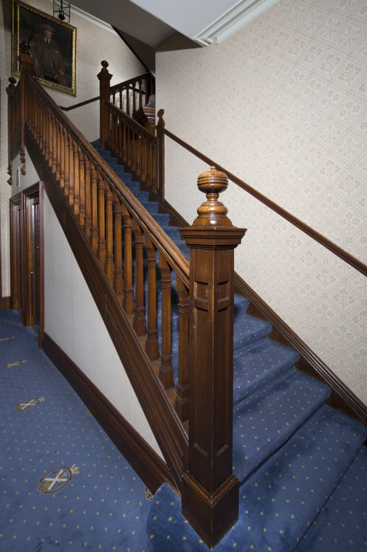 Ground floor. Detail of the main staircase.
