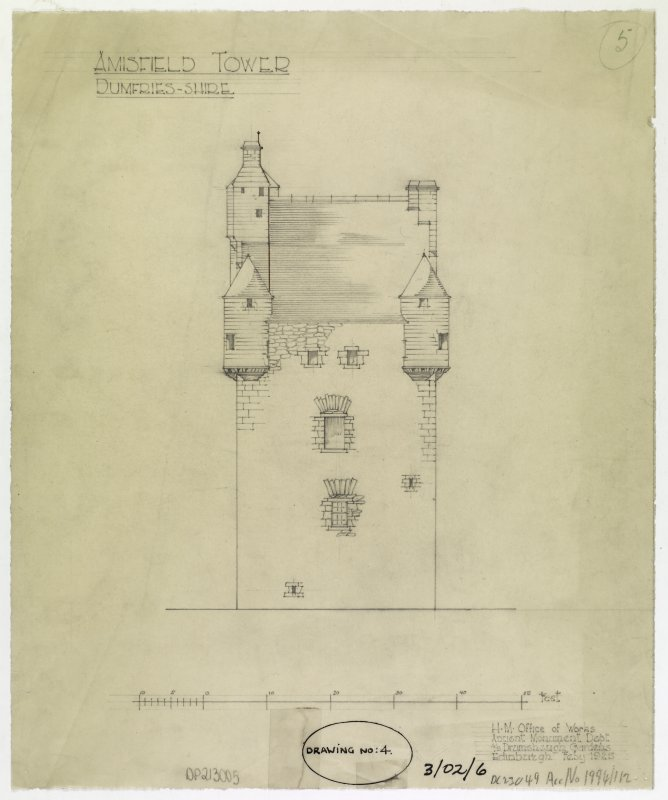 Elevation of Amisfield Tower