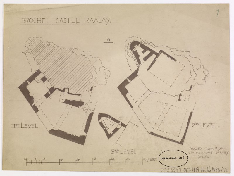 Plan of Brochel Castle, Raasay