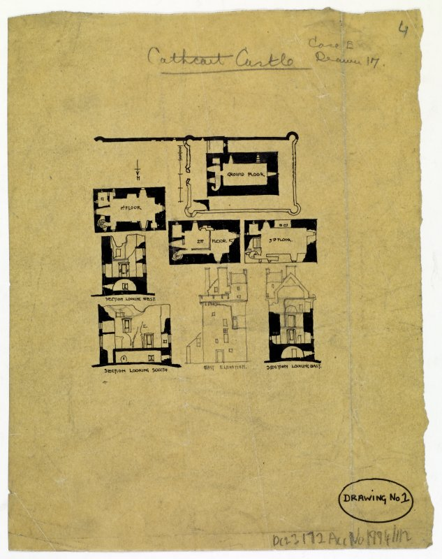 Draft sketch plan of Cathcart Castle
