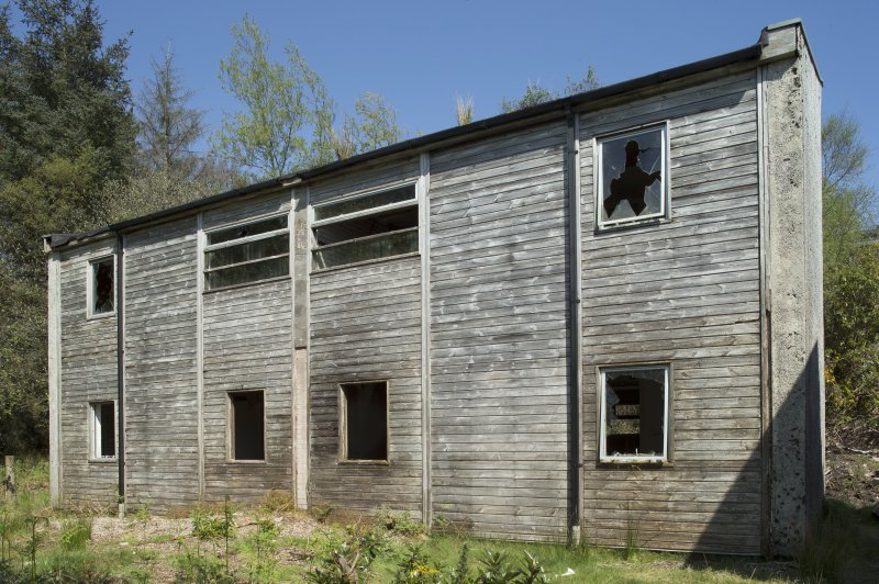 General view of accommodation block, taken from the west.