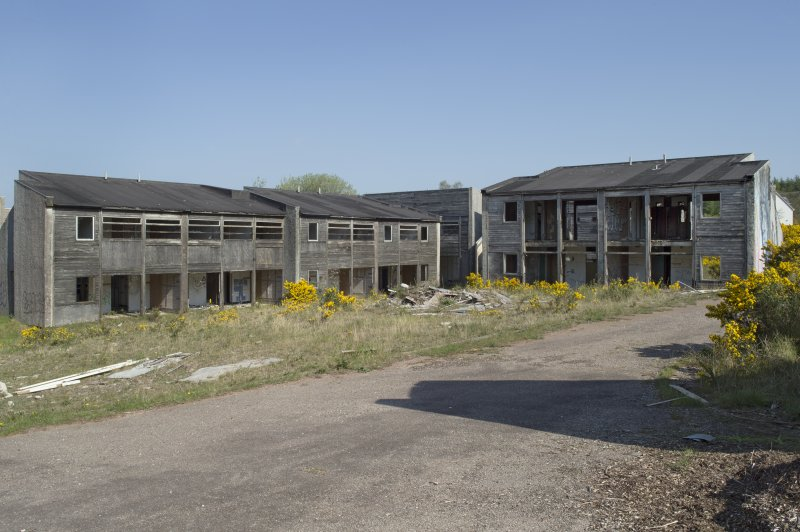 General view of northern accommodation blocks, taken from the south.
