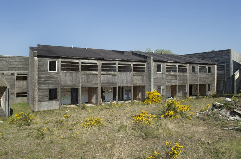 General view of northern accommodation blocks, taken from the east.