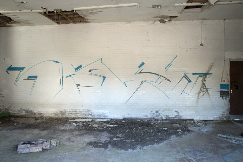 View of graffiti art by Derm.