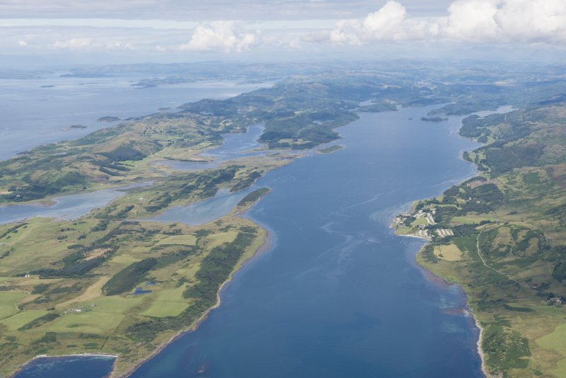 Oblique aerial view of Loch Sween.