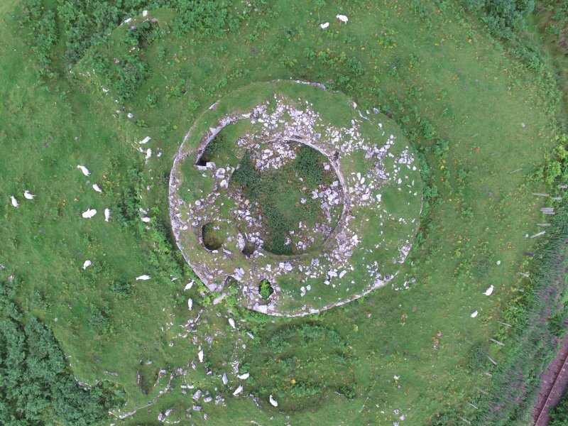 Oblique aerial view