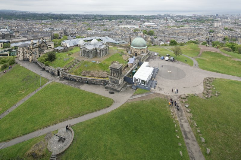 General view of Calton Hill from south east. (taken from The Nelson Monument)