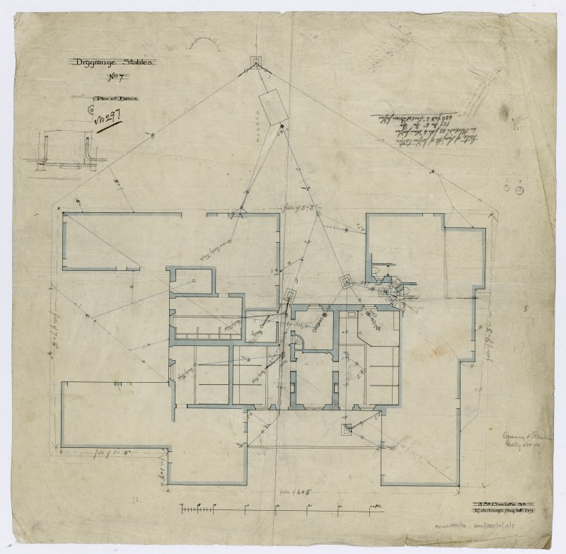 Drainage plans of stables.