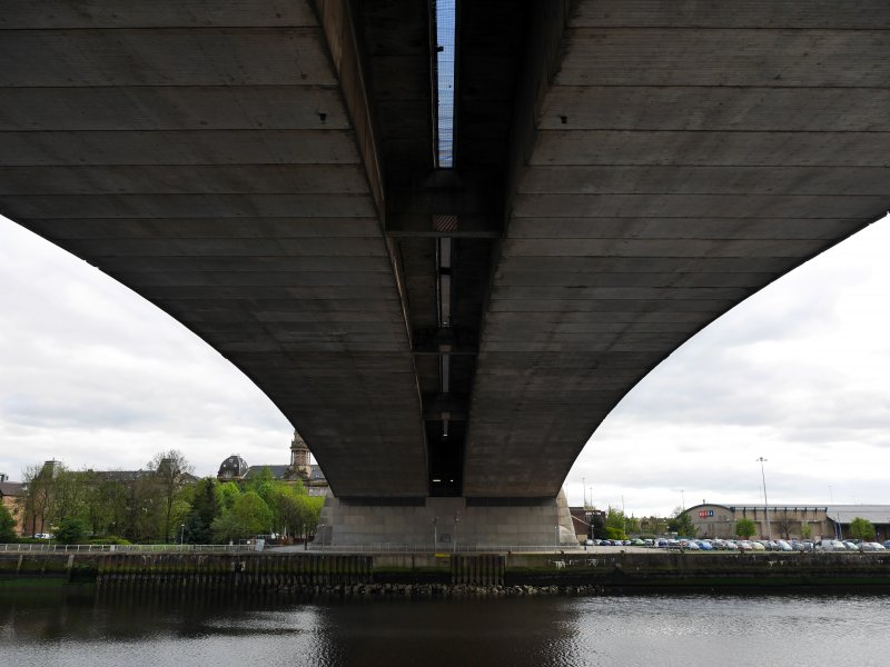 View of underside of bridge, taken from the north bank.