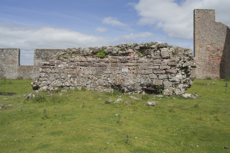 View of wall from south.