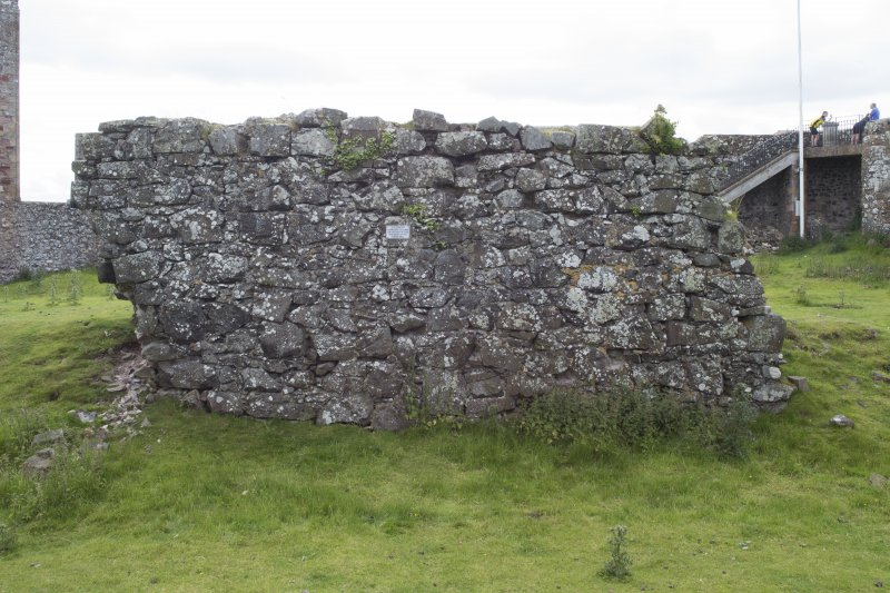 View of wall from north.