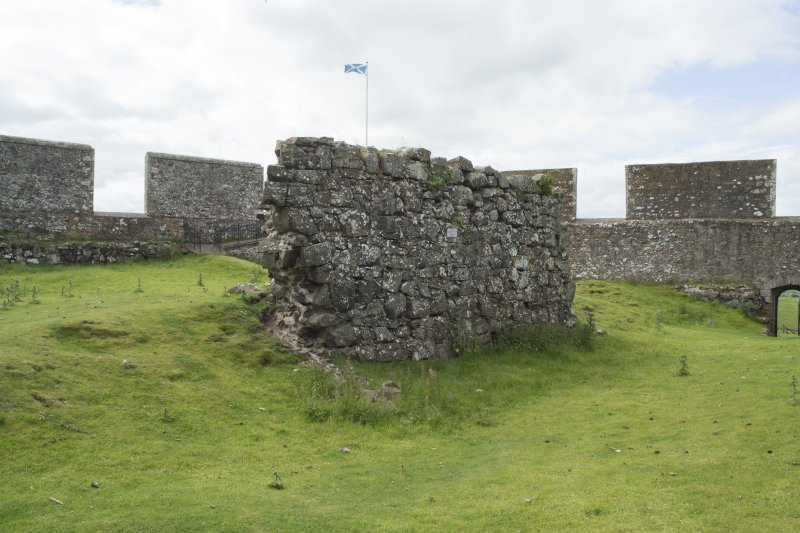 View of wall from south west.