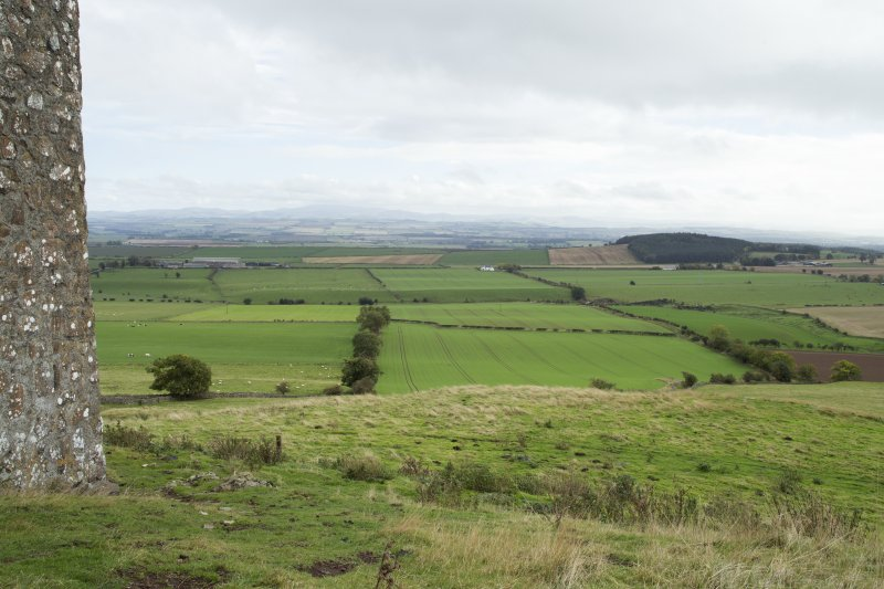 View of surrounding landscape from north.