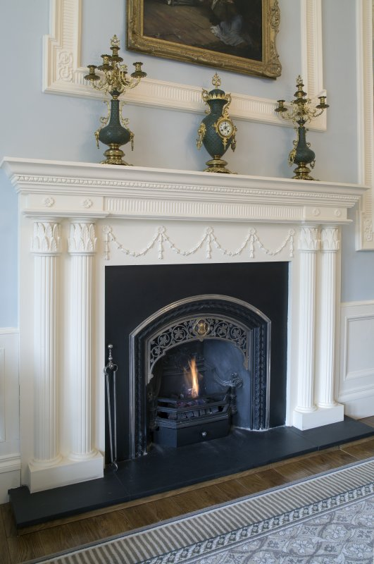 Ground floor. Drawing room fireplace.
