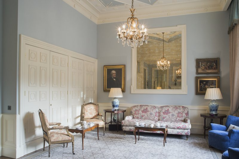Ground floor. Drawing room from west.