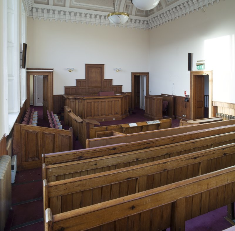 Interior. First floor. General view of court room.