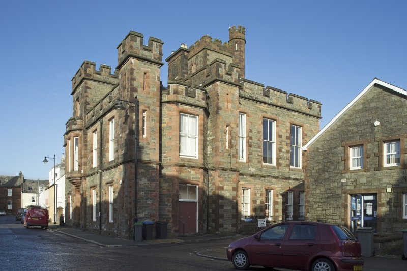 Exterior. General view of Kirkcudbright Sherrif Court House, taken from the south east.