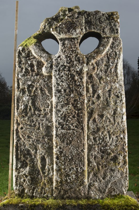 Boar Stone of Gask Pictish cross slab, face b (including scale)