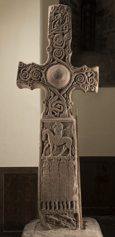 Dupplin Pictish cross face c (including scale)