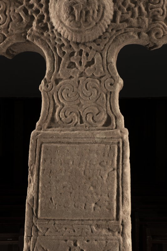 Dupplin Pictish cross, detail of inscribed panel on face a