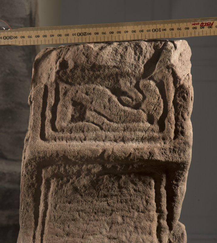 Dupplin Pictish cross, detail of underside of arm of cross (including scale)