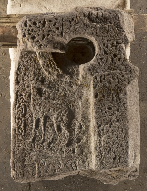 Carpow Pictish cross slab fragment face a