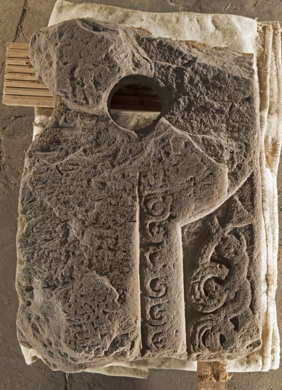 Carpow Pictish cross slab fragment face c