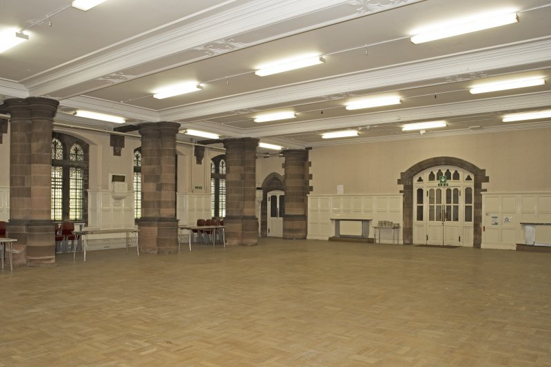Undercroft. Main hall from south east