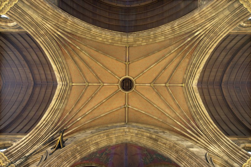 Transept crossing, general plan view of ceiling.