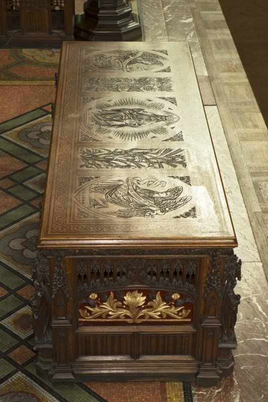 Chancel.  Communion table top.
