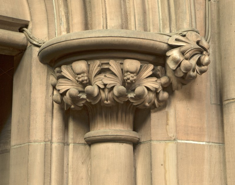West transept. Door to vestry, detail of capital.