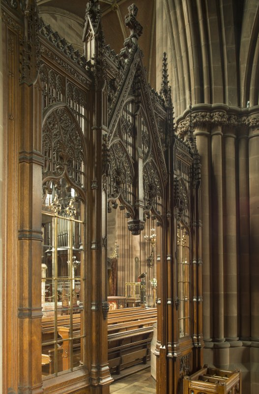 West transept. Chancel visible through screen in west transept.