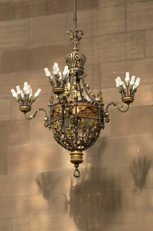 West transept. Chandelier light fitting.
