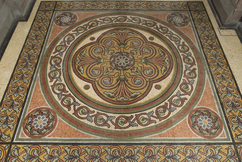 Entrance vestibule. Mosaic flooring.