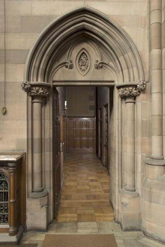 West transept. Door to vestry corridor.
