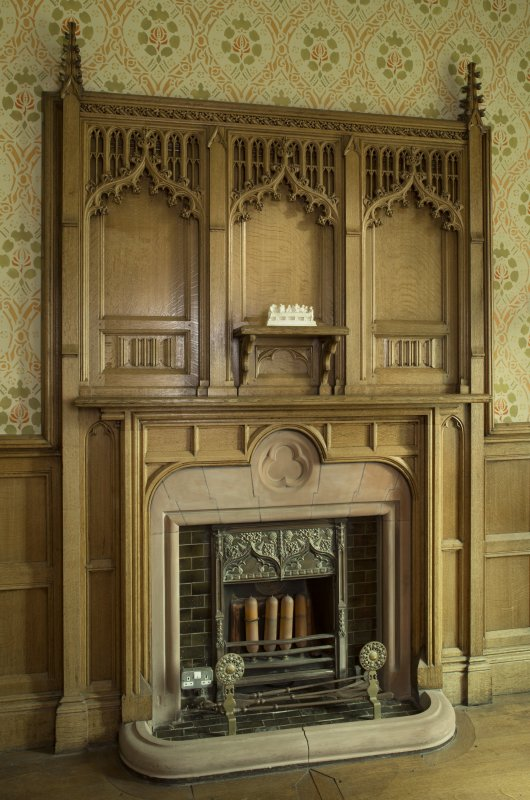 Vestry. Fireplace on south wall.