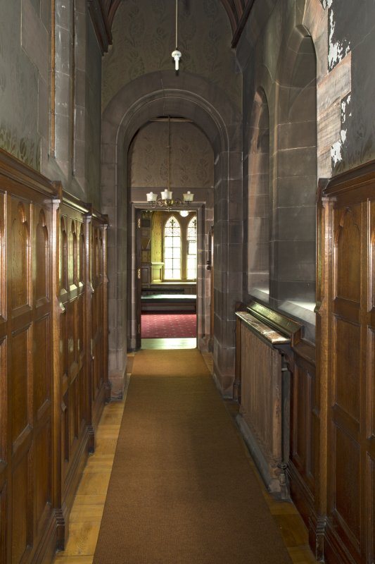 North corridor to vestry from east.