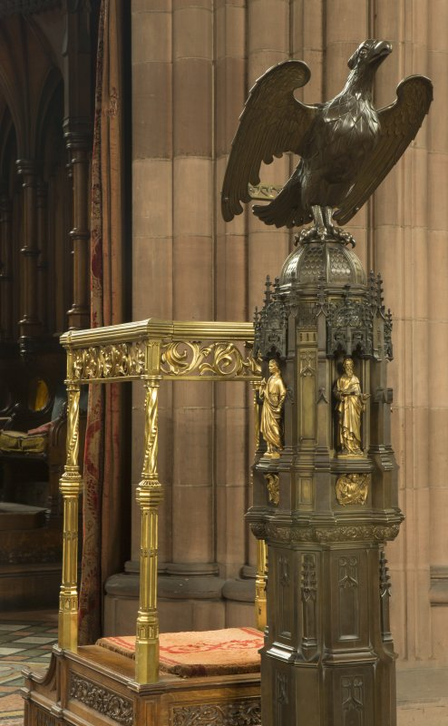 Chancel. Detail of lectern.