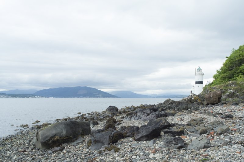 Cloch lighthouse. View from south.