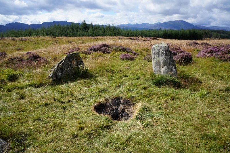 Photograph of area damaged by burning at Na Clachan Aoraidh