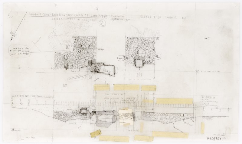 Excavation plan and section