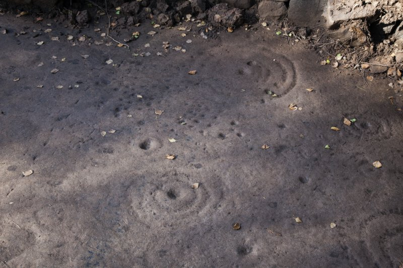 Detail of cup and ring marks.