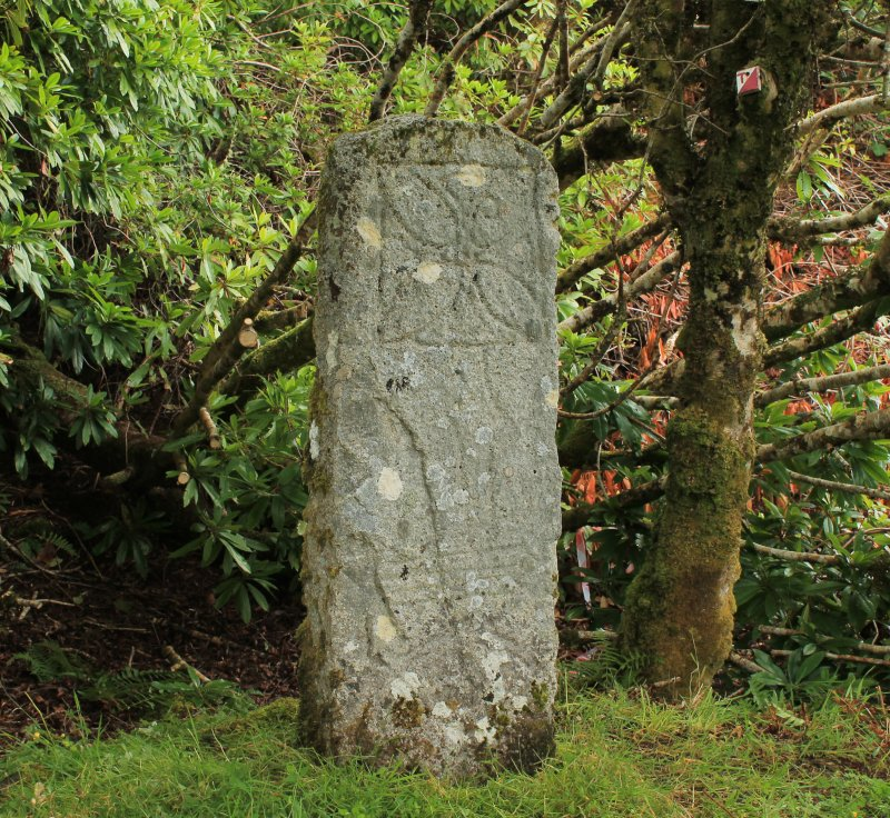 Photograph of Raasay Pictish cross slab