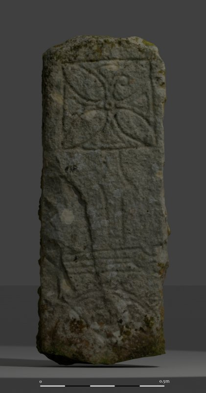 Raasay Pictish Stone: Textured photogrammetric mesh, lit from top right