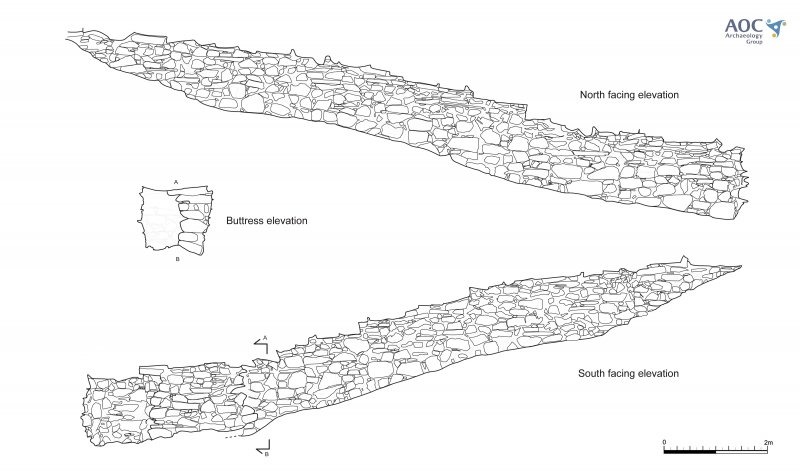 Internal elevations of Cracknie souterrain