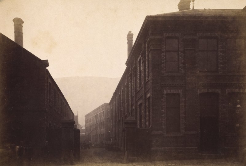 View showing the exterior of the workshops and laboratories of Duncan, Flockhart & Co's, Edinburgh.