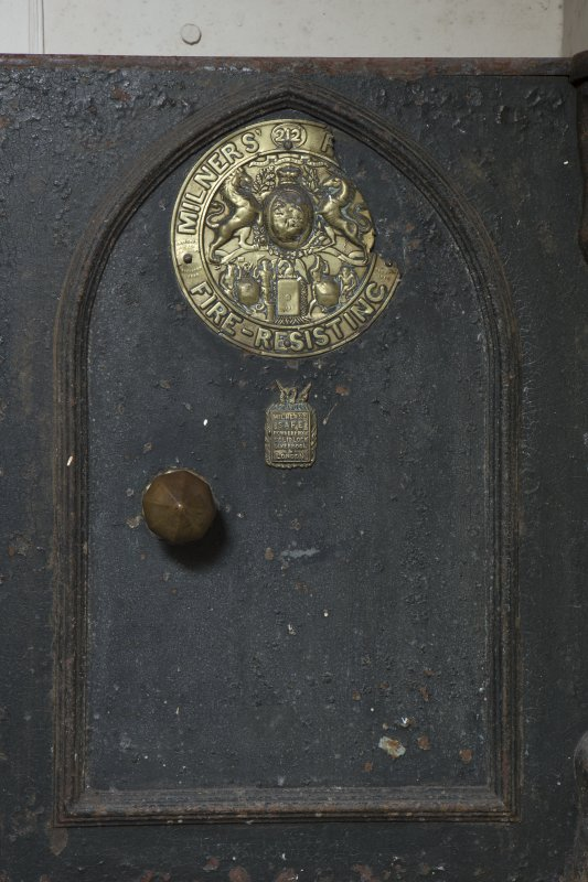 Ground floor, butler's pantry, detail of door to safe