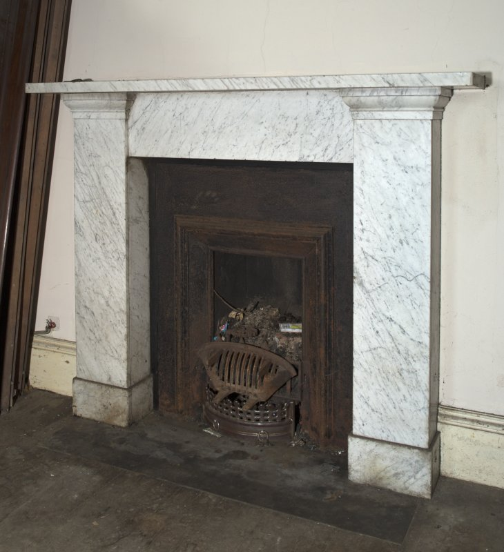 1st floor, bedroom, detail of fireplace